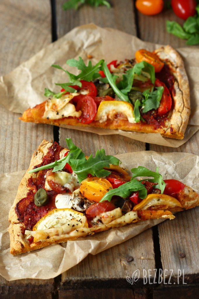 Bezglutenowa i wegańska pizza z batata