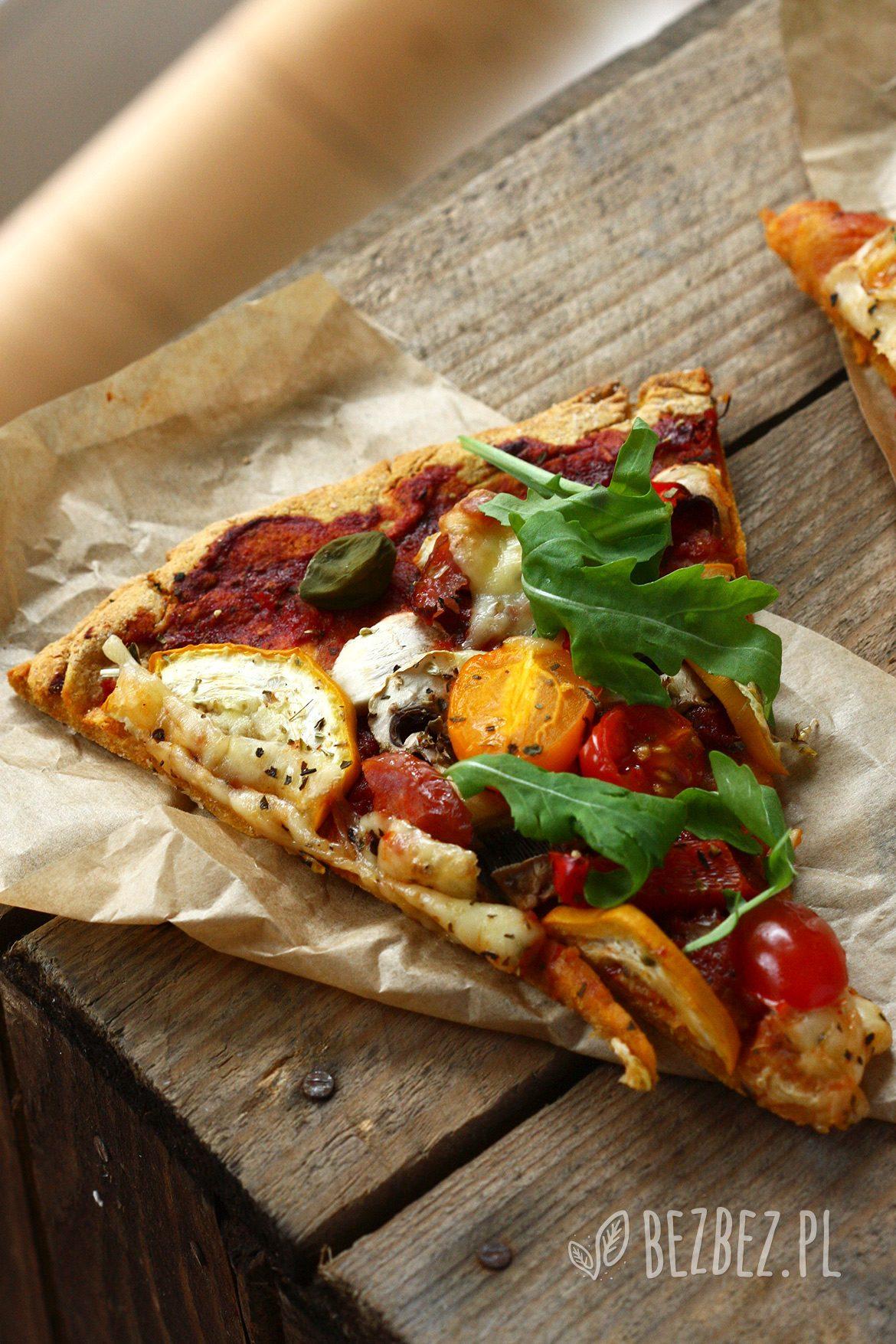 Pizza z batata bez glutenu, mleka i jaj
