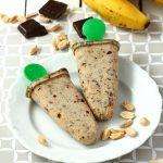 Najprostsze wegańskie lody z bananów i masła orzechowego