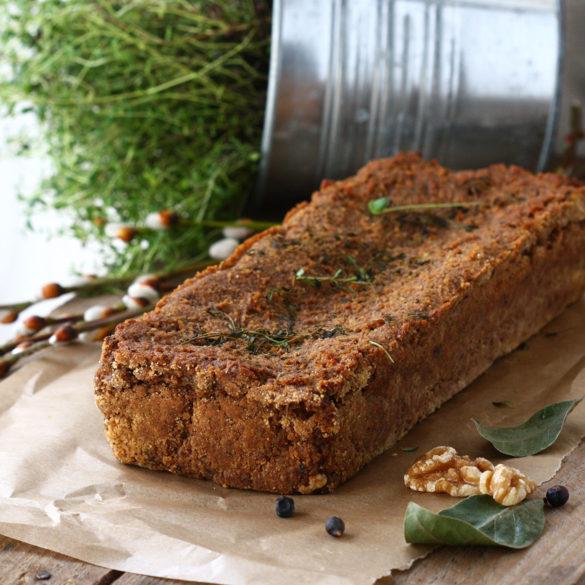 Bezglutenowy i wegański pasztet jaglany z boczniakami