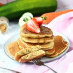 Bezglutenowe racuchy cukiniowo-marchewkowe wegańskie