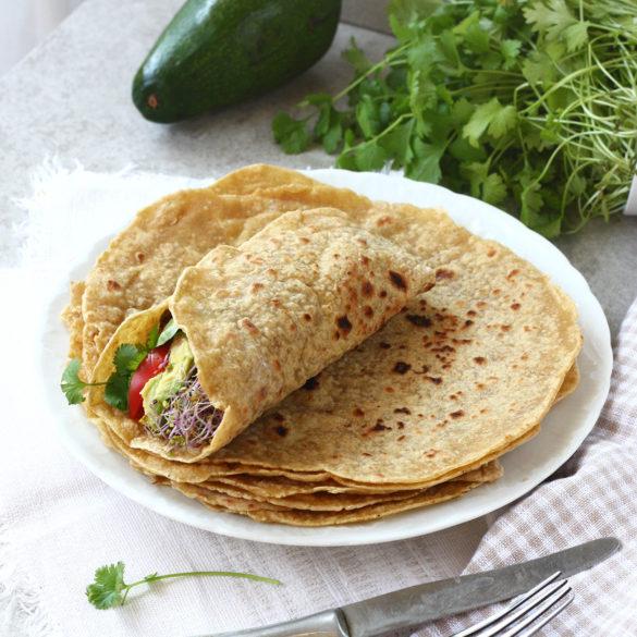 Tortille bezglutenowe bez jajek i nabiału