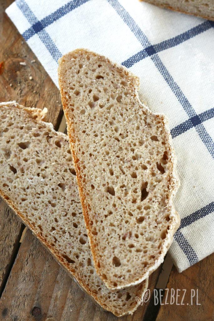 Bezglutenowy chleb bez użycia foremki (wegański)