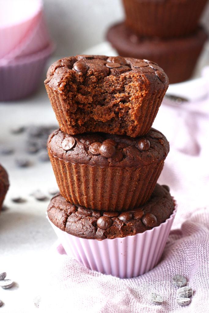 bezglutenowe muffinki czekoladowe z nuta kawy i pomarańczy