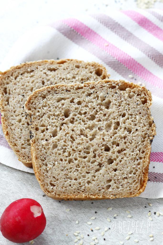 Bezglutenowy chleb ryżowo-owsian, wegański