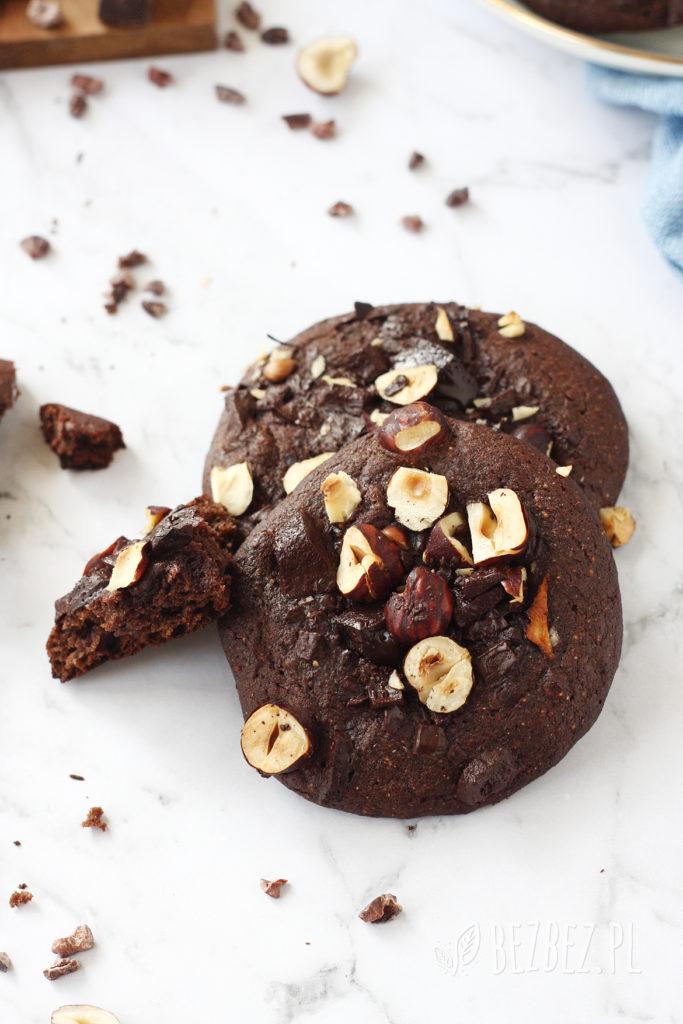 Bezglutenowe ciasteczka czekoladowe bez jajek i mleka