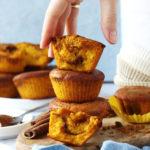 Wegańskie i bezglutenowe muffinki dyniowe z cynamonem