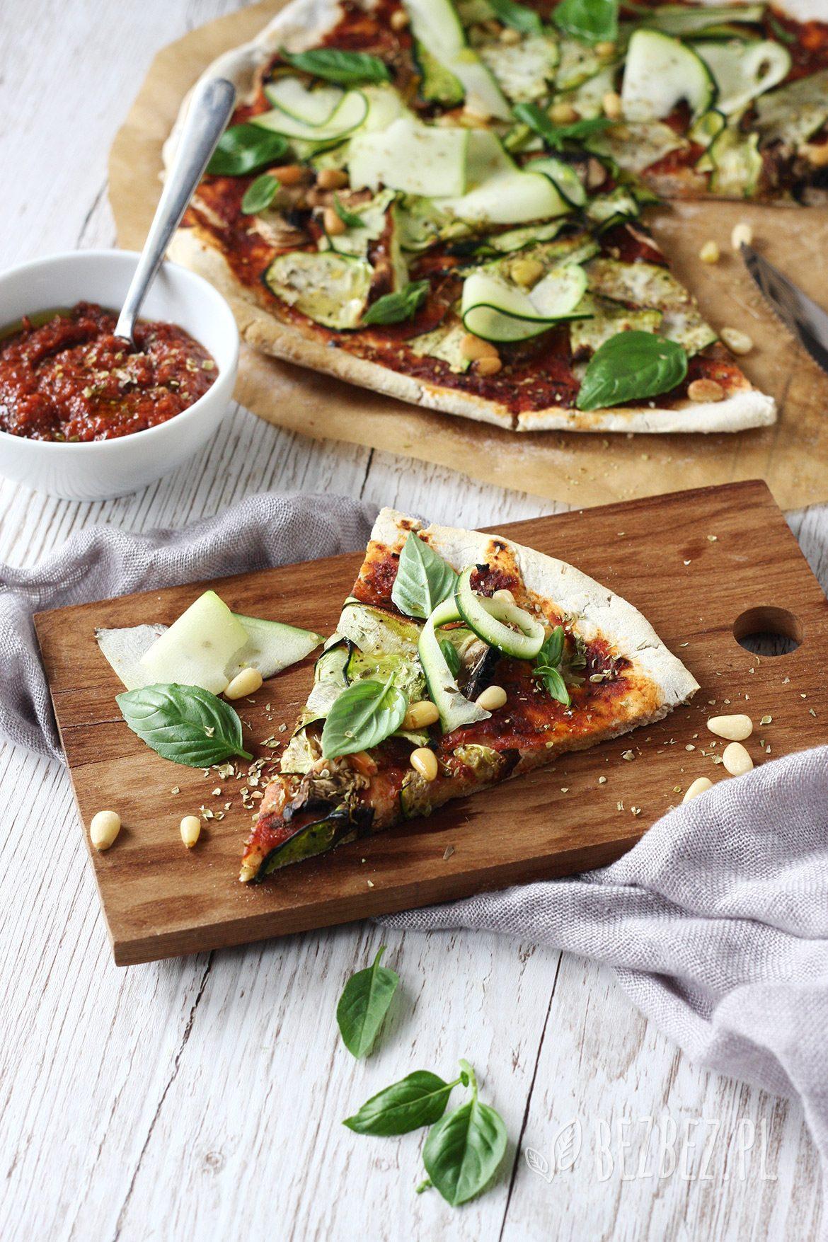 ekspresowa pizza bez glutenu i drożdży, wegańska