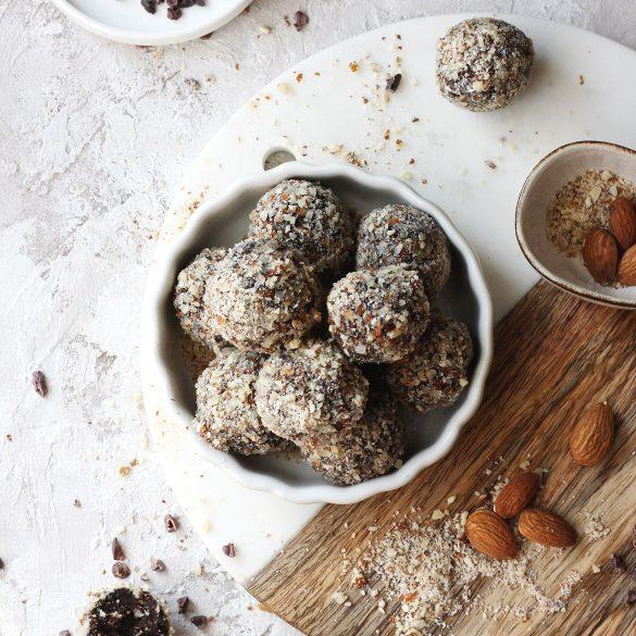 Figowe trufle czekoladowe bez nabiału